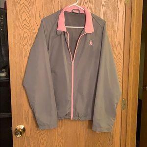 Zip up rain jacket